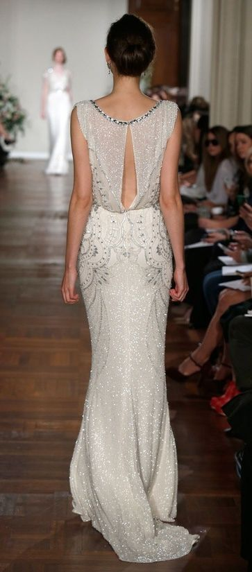 Make a statement with your back on your big day as you walk down the aisle by Jenny Packham.