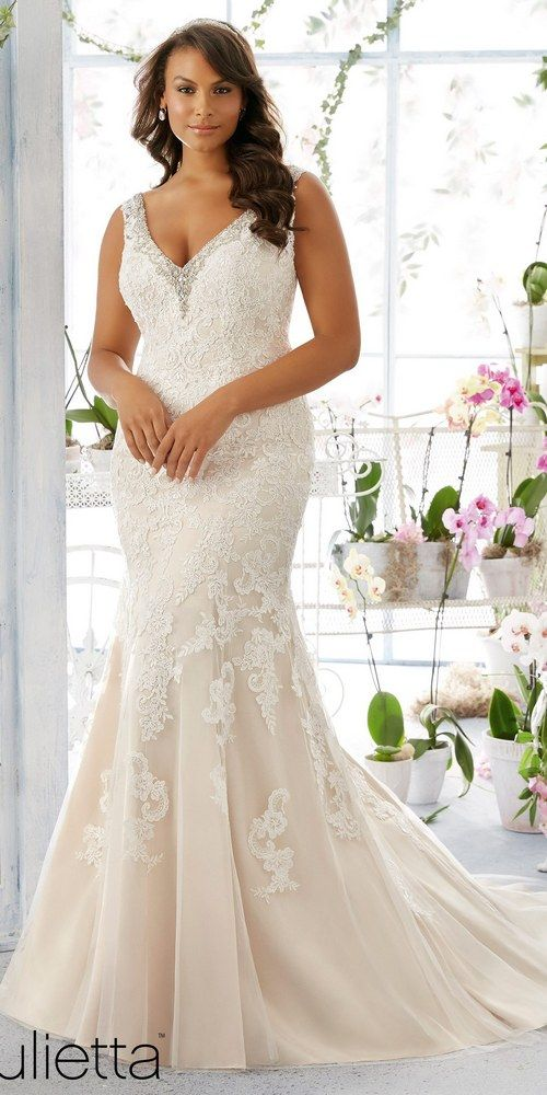 Love the Julietta collection by Mori Lee for the plus size bride!