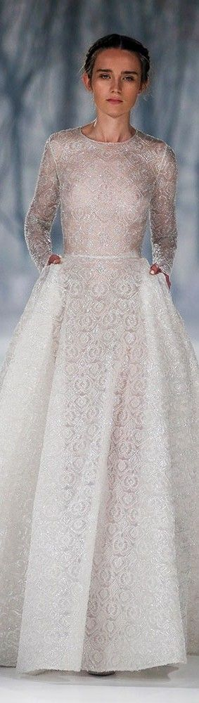 Sexy and demure creation by Paolo Sebastian couture.