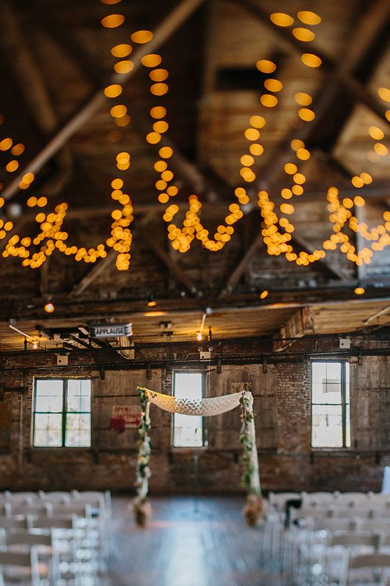 Raw space: Greenpoint Loft wedding in Brooklyn, NY by lindseymevents and Therese Winberg Photography.