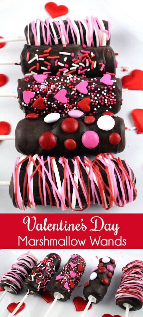 Valentine's Day marshmallow wands. So yummy!!!