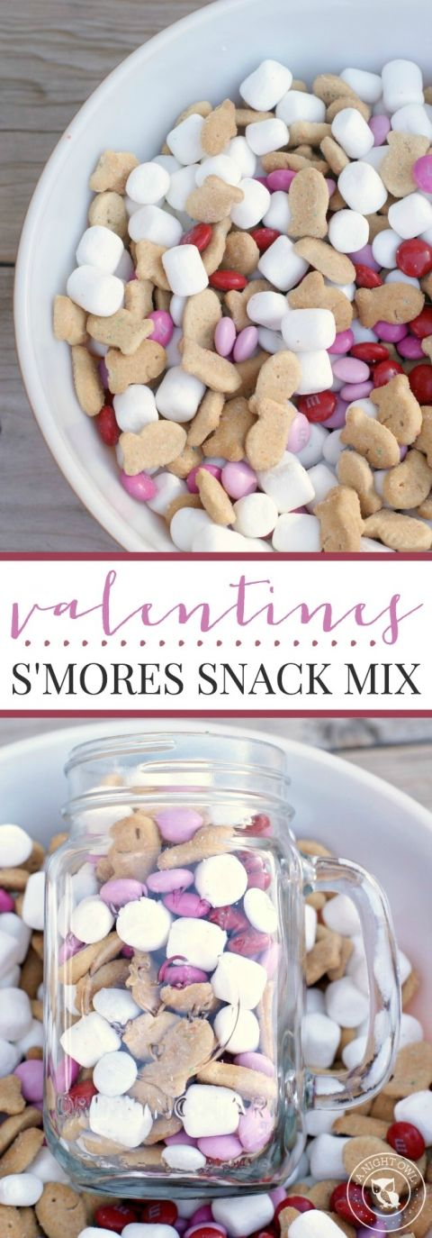 How about a sweet gift of Valentine's S'mores snack mix? Check out the recipe on the blog!