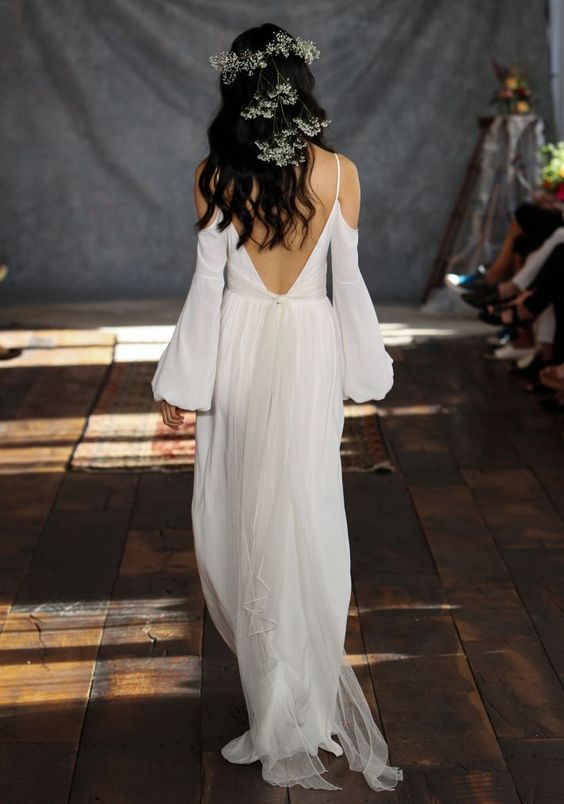 """Vestido para una novia boho de la colección de Claire Pettibone """"Romantique"""""""