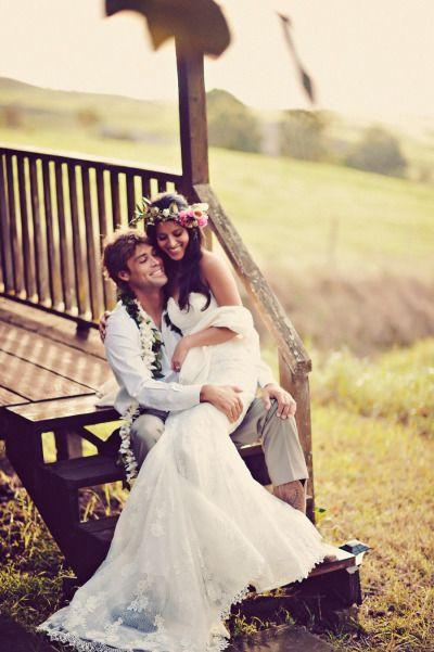 Una boda boho chic en Maui. Fotografía: Tamiz Photography.