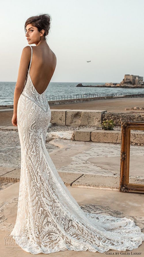 Galia Lahav Gala 2017 Bridal Sleeveless Deep Plunging V Neck Fully Embellished