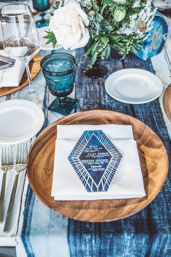 Inspírate en esta decoración de mesas boho chic.