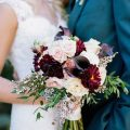 Elegant plum wedding inspiration. Photo by Jenna Henderson.
