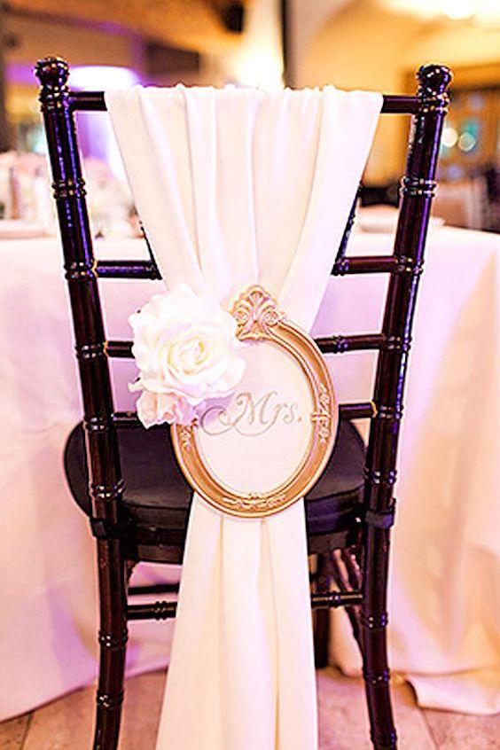 Ideas para vestir sillas de boda shabby chic vintage.