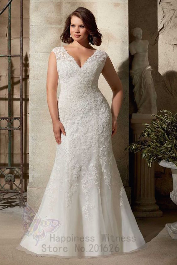 Modern sheath wedding dress that hugs your curves with a sexy V-neck from Morilee by Madeline Gardner.
