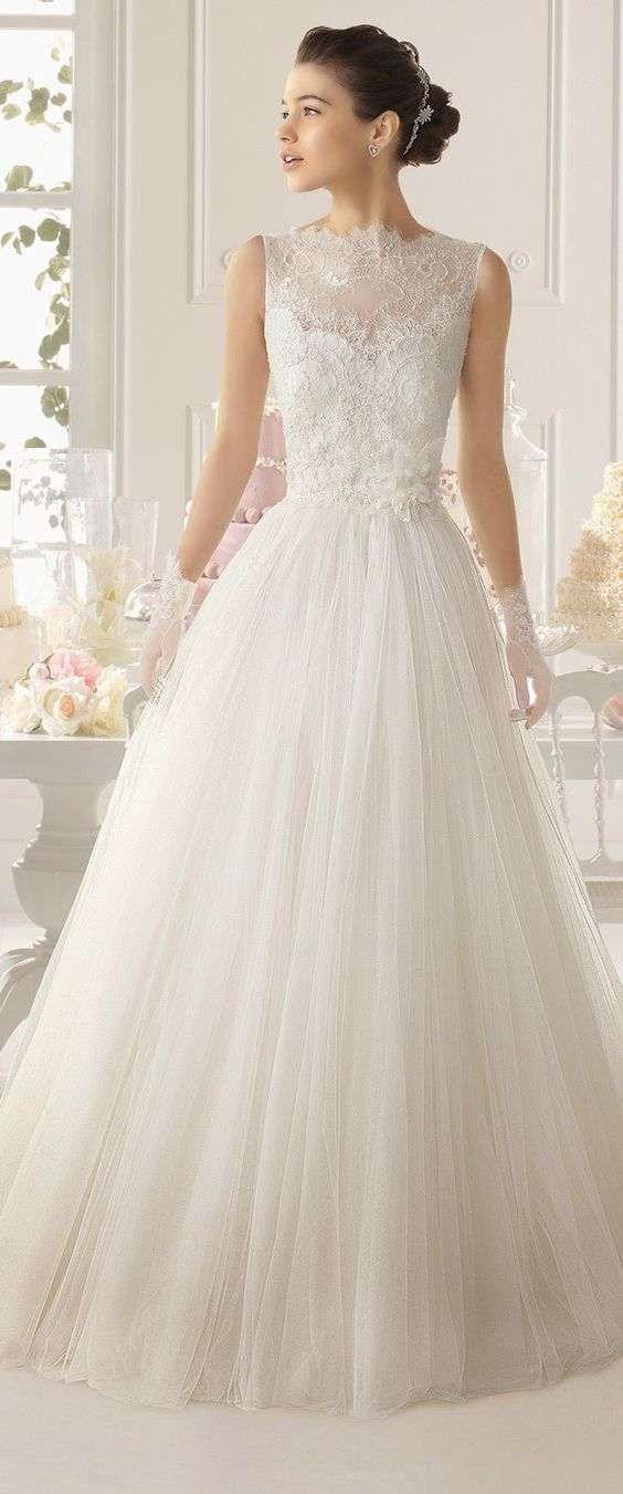 Order your wedding dress at least 9 months out. One year out allows ample time for fittings and alterations. Seriously stunning wedding dresses Aire Barcelona.