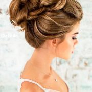 2017 trending wedding hairstyles braided updo.
