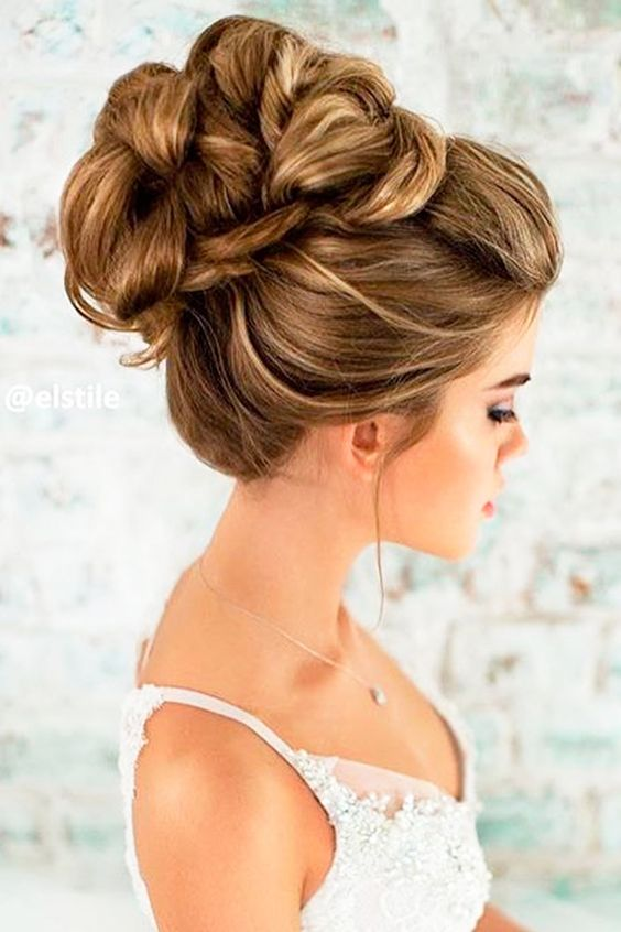 Trending wedding hairstyles braided updo.