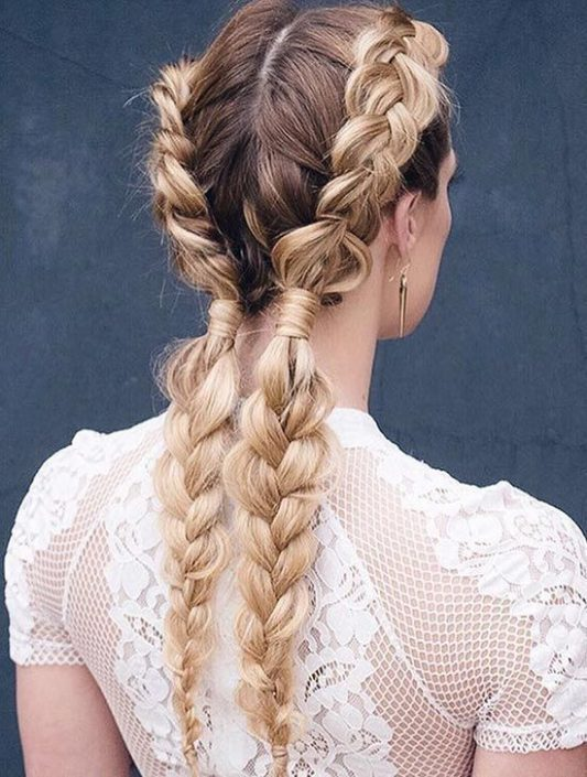 Boxer braids for brides. 2017 is the year of bold and daring new looks!