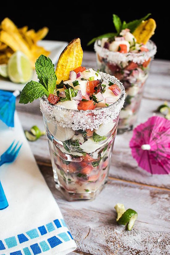 Delicious Cuban ceviche. A great addition to your Cuban-inspired wedding menu.