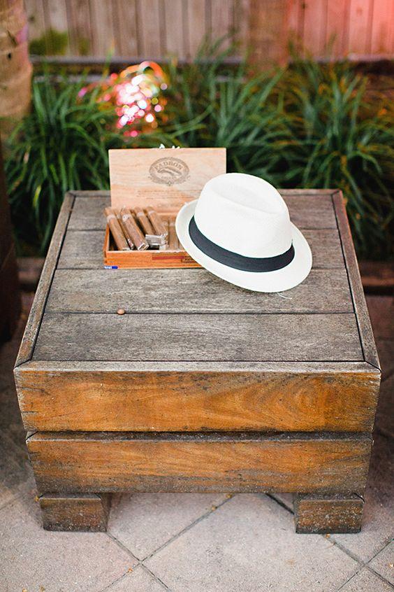Cuban cigar wedding ideas.