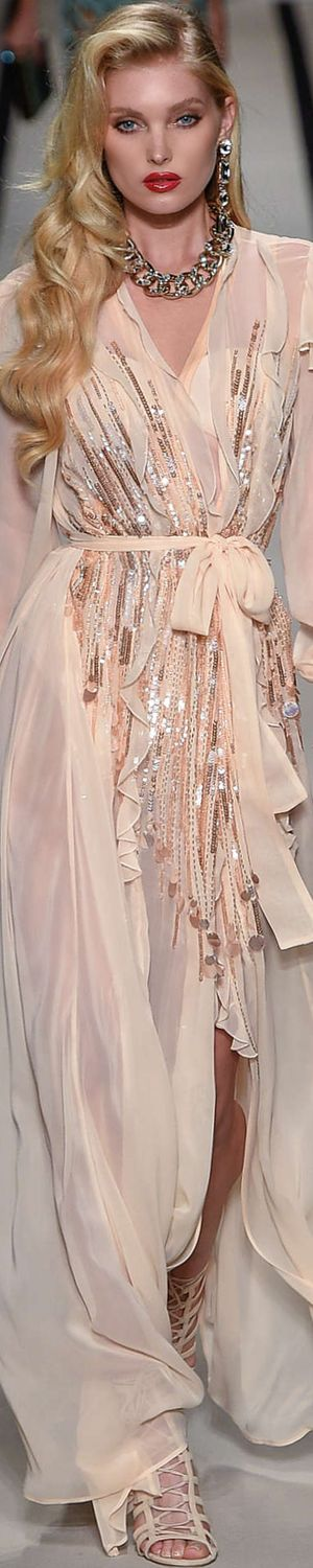 Chic and sexy Elisabetta Franchi Spring 2017 RTW evening gown.