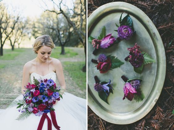 Fairytale jewel-toned woodland wedding inspiration by Two Foxes Photography.
