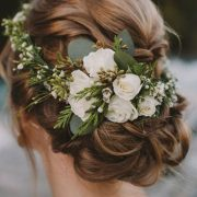 Flower crowns are a winning wedding hair accessory.