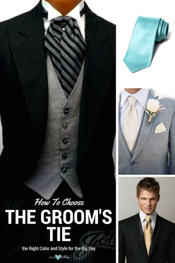 How to choose the right groom's tie for your wedding.