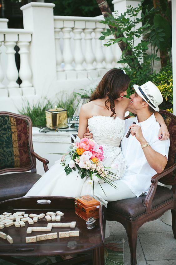 Old Havana wedding inspiration by Posh Peony Floral and Event Design. Palos Studio Photography.