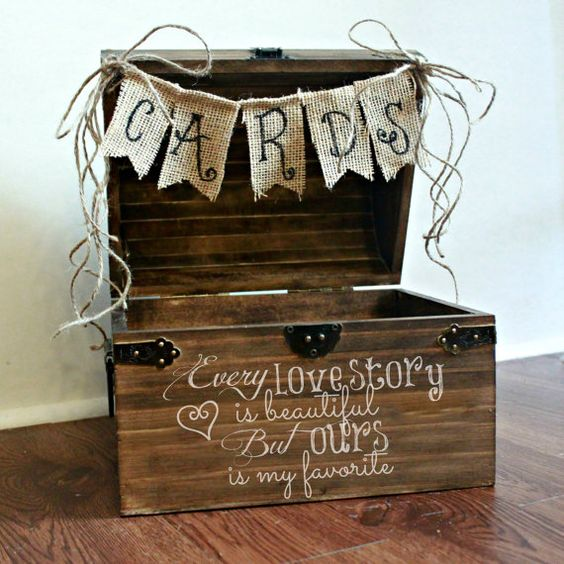 Shabby Chic wedding card box.