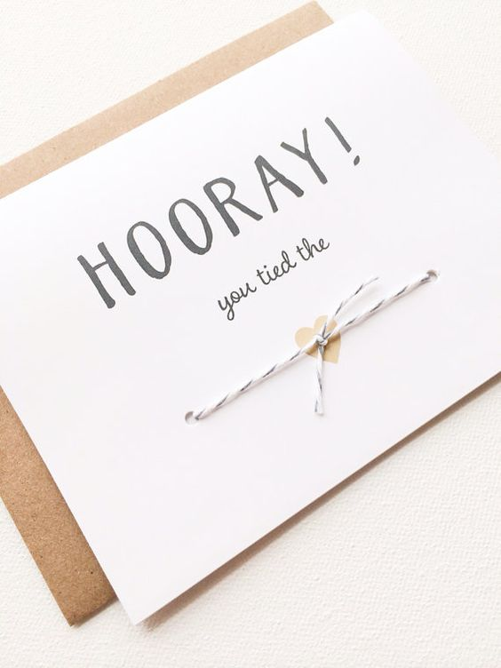 Wedding congratulations card. You tied the knot!