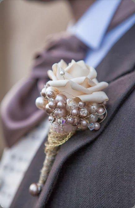 Arquitectura de perlas y flores.