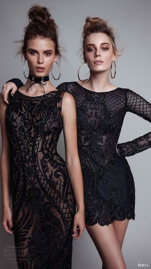 The little black dress will never go out of fashion. Check out these embellished and elegant cocktail dresses by Berta Ready To Wear Fall 2017 collection!