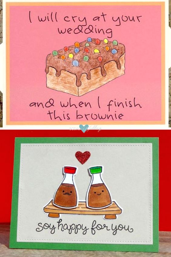 Funny wedding wishes: Chocolate Card | Congratulations card with Soy Sauce