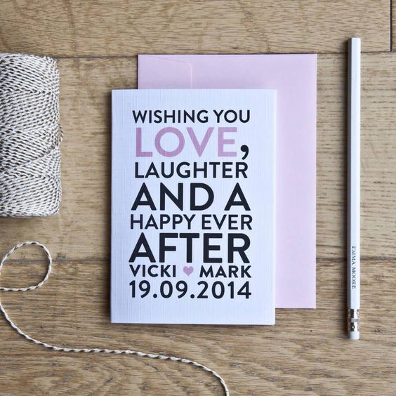 how to write a wedding card As if picking out your wedding outfit isn't hard enough then, you have to write a note in the card, too we compiled a list of 28 short and sweet phrases for you.