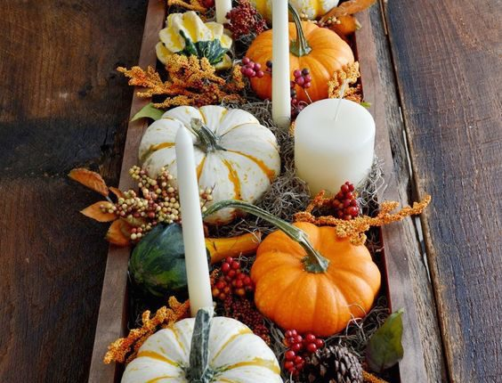 Multiple use for these cute mini-pumpkins. First as a table decor and, after the wedding, as favors.