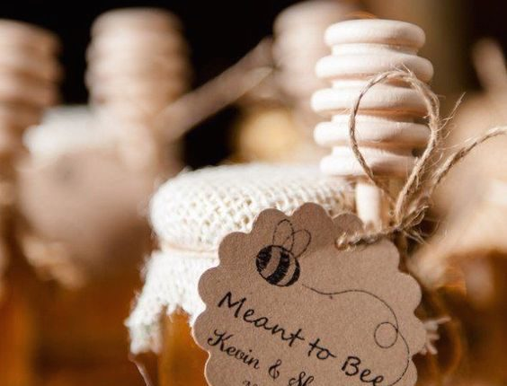Adorable rustic fall favors for a country barn wedding.