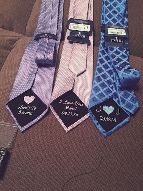 The tie patch is a wonderful keepsake that will add to the love, happiness, and remembrance of your big wedding day!