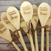 Unique fall wedding favors. Wooden spoons for Chili Cook-offs! How cool is that?