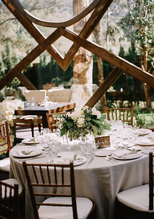 The Ranch has the unique vibe of a hidden forest full of waterfalls, trees and beautiful flowers. Calamigos Ranch wedding photographed by Allie Lindsey Photography.