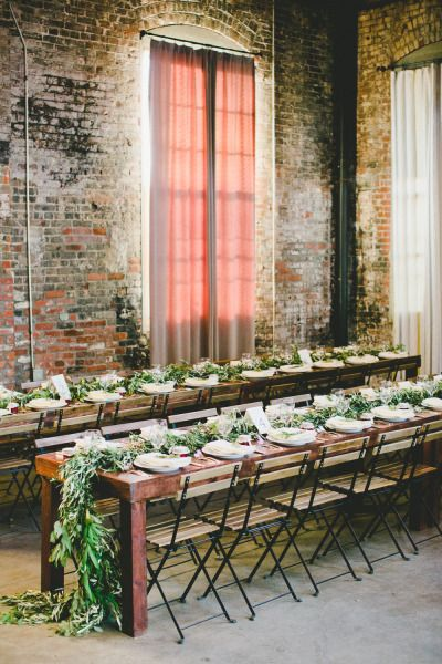 Rustic loft wedding at the HNYPT, a raw space in Los Angeles. Wedding Photography: Onelove Photo.