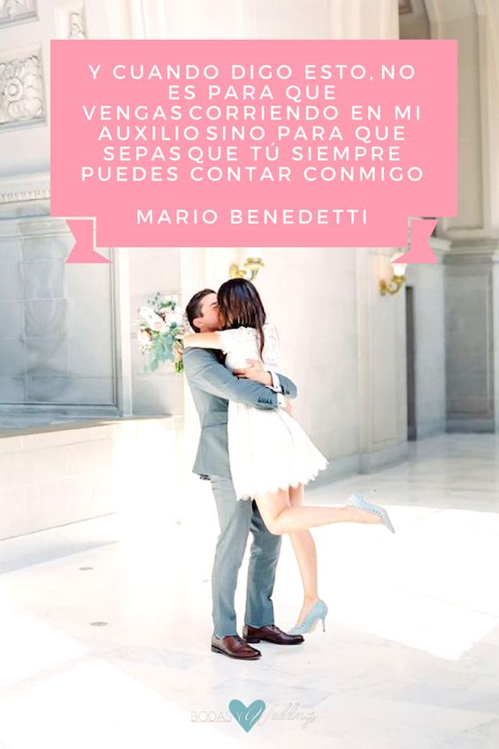 Poemas de amor para la ceremonia civil. ¡A copiar! Poema de Mario Benedetti. Fotografía de bodas: The Great Romance Photo.