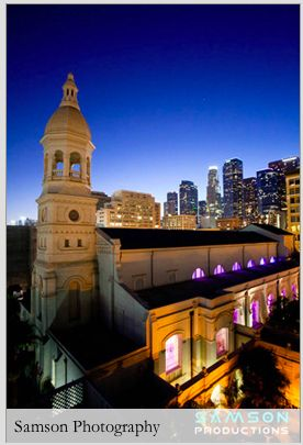 The Vibiana, in Downtown is the oldest cathedral in L.A. It was the former Archdiocese of L.A. Many famous weddings took place at this site and even former Pope Paul slept in what is now the bridal prep area.