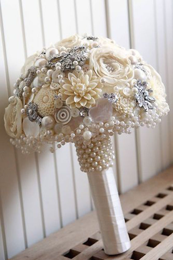 Bridal Bouquets Without Flowers For Non Traditional Brides Unique Amp Stylish