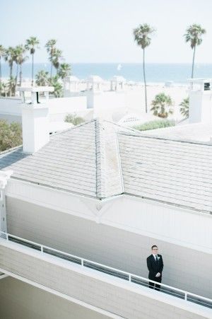 Santa Monica Shutters on the Beach has a breathtaking seaside space ideal for beach weddings. Hazelnut - Elizabeth Anne Designs.