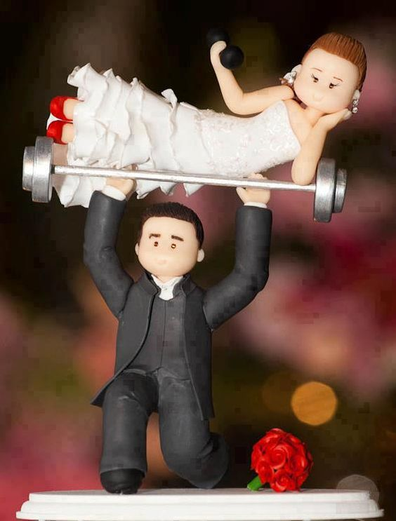 Hilarious and unique wedding cake toppers for original couples.