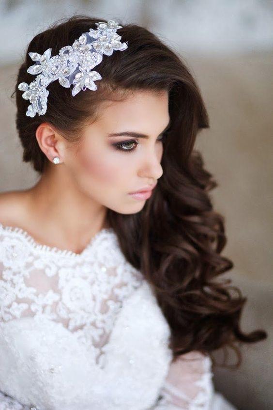 Peinados para novias pelo suelto