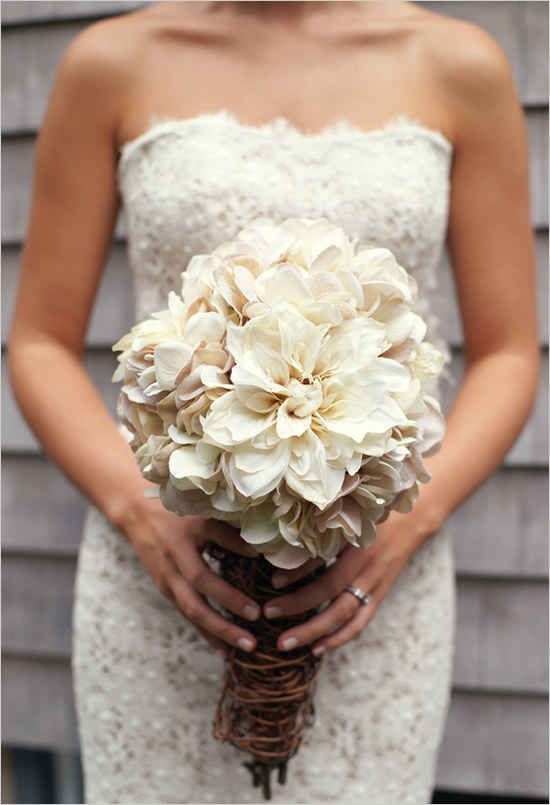 Splendid non-traditional wedding bouquets without flowers. I really enjoy the look of this bouquet.
