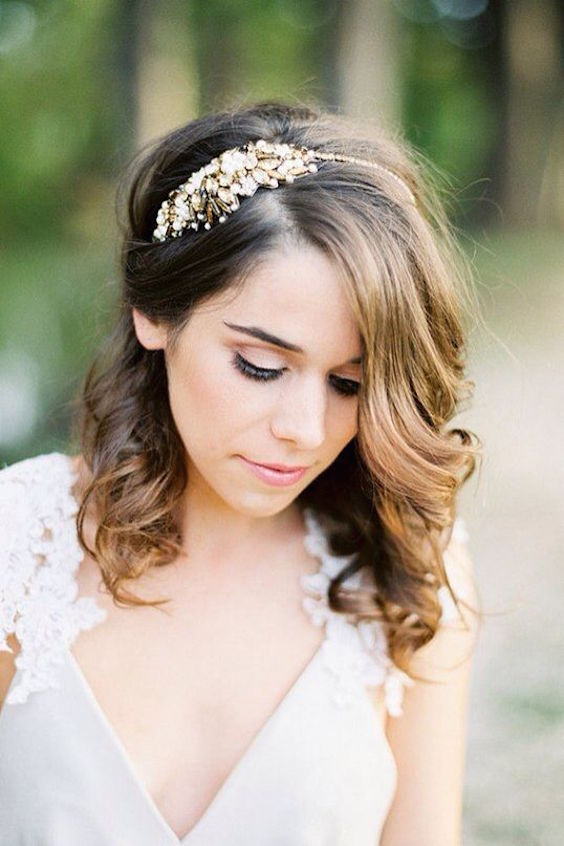 Peinados de novia pelo corto 2018