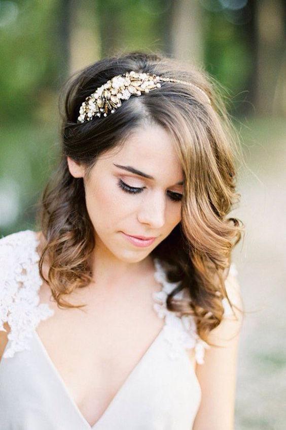 42 Peinados De Novia Con Pelo Suelto Largo Corto O Mediano - Peinados-para-novias-pelo-corto