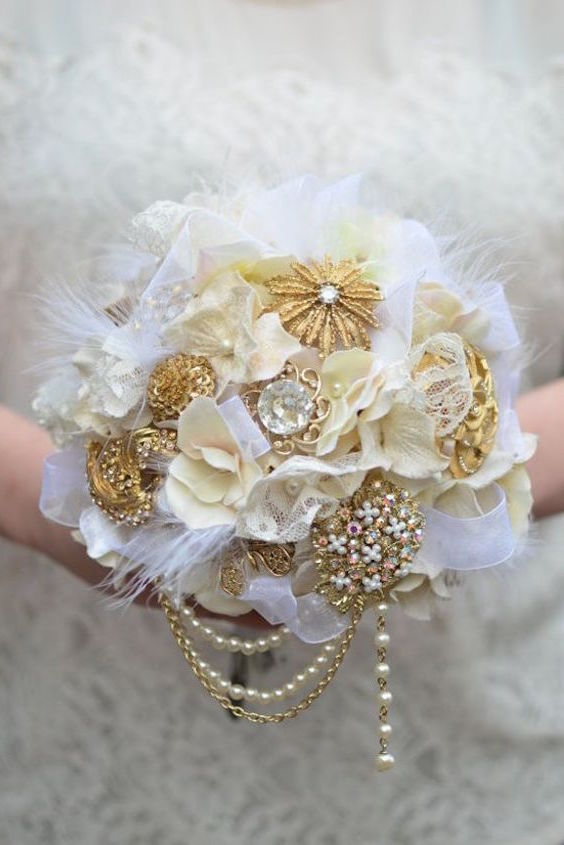 unusual wedding bouquets bridal bouquets without flowers for non traditional brides 8202