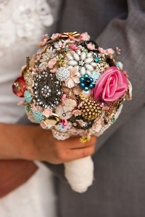 Fun and unique wedding bouquets for the alternative bride.