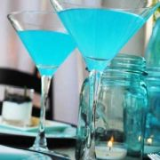 Blue lemon Martini recipe. A perfect fit for beach, modern or industrial weddings.
