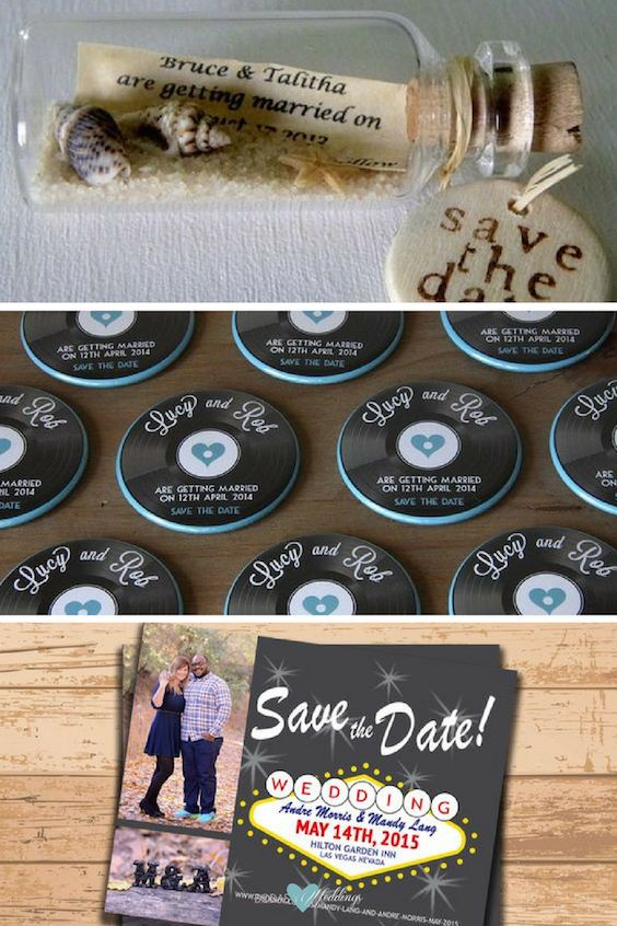 DIY Save the Date magnets that match your wedding theme.
