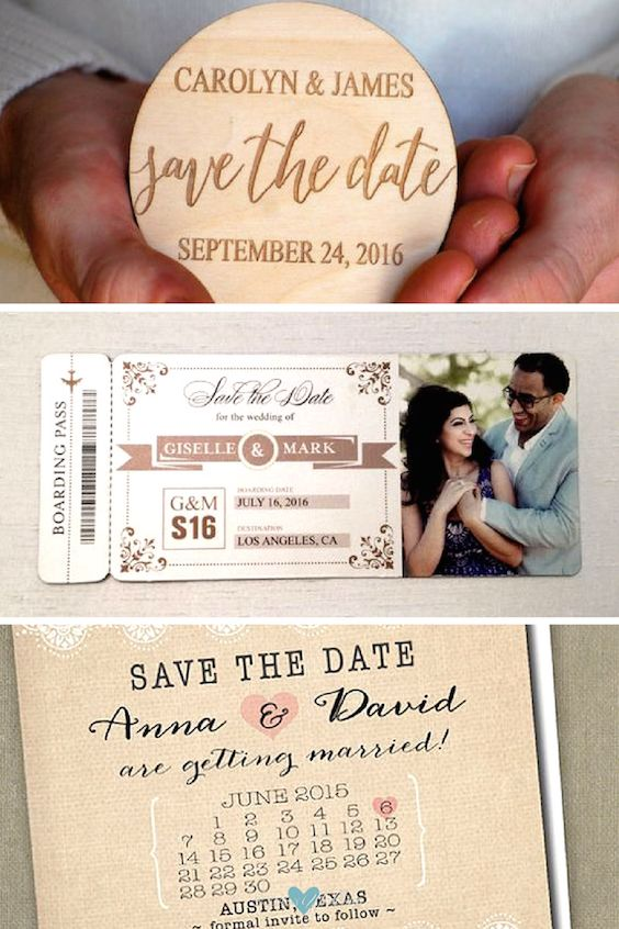 DIY Save the Date Magnets for Traveling Couples